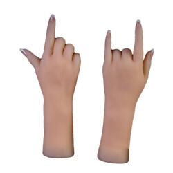 1 Pair Silicone Fake Hands Mannequin For Watches Rings Display Stage Props