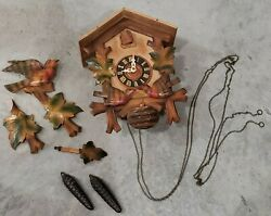 Vintage Cuckoo Clock Inside Stamped West-germany For Parts Or Repair Untested