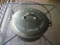 Griswold 835 Tite-top No. 10 Dutch Oven With 208 Trivet And 2553 Lid