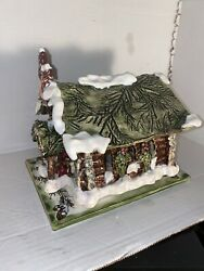 New In Box Church Candle House Christmas Collection Blue Sky Goldmine Cl 20103