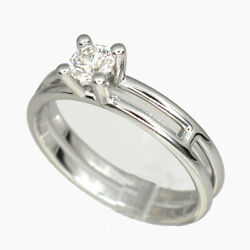 hermes Alianne Diamond White Gold Ring Size 10 With Box Shipped From Japan
