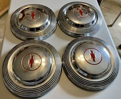 1966 Chevy Impala Ss L-72 427 396 Dog Dish Poverty Hubcaps Red 66 Bel Air