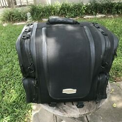 Motorcycle Luggage Ultra Tour 4148 Bag Motorcycle Sissy Bar Bag + 4 Tie Downs