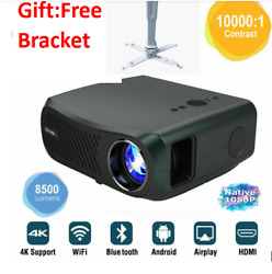 Smart Led Android Bt Native 1080p Hd Projector 8500lms 5g Wifi Hdmi 4k Video Usb