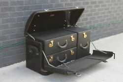 Original 1920and039s 1930and039s Watts-morehouse Steelwood Luggage Trunk Ford Packard Gm