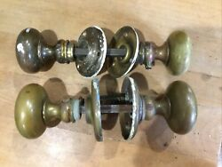 2 Sets Reclaimed Vintage Style Brass Door Knobs Knobs 2, 1.5