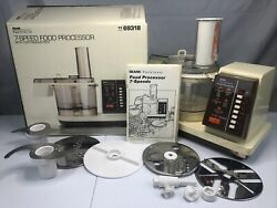 Vintage Sears Kenmore 7-speed Food Processor 1169318 And Attachments Tested