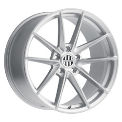 Victor Equipment Zuffen 20x8.5 +45 Silver W/ Brushed Face Wheel 5x130 Qty 4