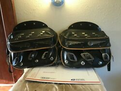 Harley Antique Panhead Bucco Speedking Leather Saddlebags