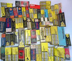 Tung-sol Sylvania Ge Rca Standard Vintage Radio And Tv Tubes Different Sizes