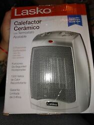 Lasko Portable Electric Heater 1500w Ceramic Space With Adjustable Thermostat