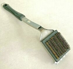 Nature Of Barbecuing Bbq 15'' Stainless Steel Grill Cleaning Scraper Wire Brush