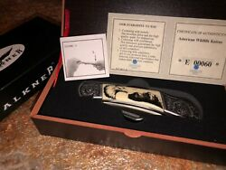 Falkner Knife American Wildlife Bald Eagle With Mountains American Mint