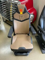 Seats Inc. Pinnacle Black And Brown Leather Highback Truck Seat