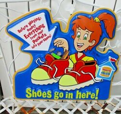 Vintage Burger King Kids Club Sign Shoes Go In Here