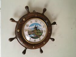 Animated Dutch Windmill Motion Wall Clock - In Running Condition