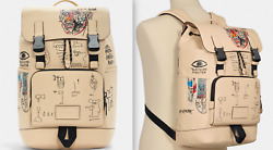 Jean-michel Basquiat Skull Painting Limited Ed. Leather Backpack New Sold Out