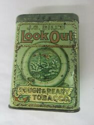 Vintage Advertising Empty J G Dilland039s Look Out Vertical Pocket Tobacco Tin 254-y