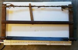 Vintage Antique Medium Rope Spanned Cabinet Maker And039s Hand Saw Belgium 1930s