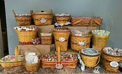 Longaberger Set Lot Of All 14 May Series Baskets Basket Group Collectors Club