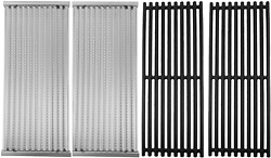 Cast Iron Cooking Grates And Emitters For Charbroil Performance Tru-infrared Bbq