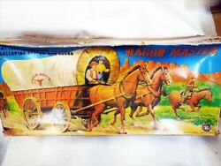 Used Wagon Master With Box Battery Type Tinplate Covered Hood Vintage Antique