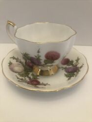 Dundee Thistle Queen Anne Fine Bone China England Cup And Saucer Made In England