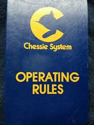 Railroad Antiques And Collectibles Chessie System Railroad Railroad Rule Books