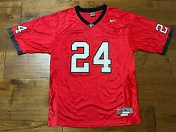 Georgia Bulldogs Ncaa 24 Nike Embroidered Stitched Football Jersey - Men's L +2