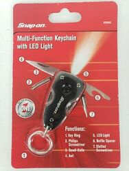 Snap On Multi Function Keychain With Led Light 870545 Mint In Package