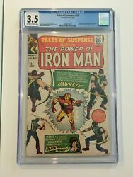 Tales Of Suspense 57 Cgc 3.5 Ow-w 1st Appearance Of Hawkeye