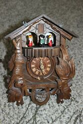 Vintage Cuckoo Clock Germany For Parts Or Repair Untested Romance Edelweiss 2708