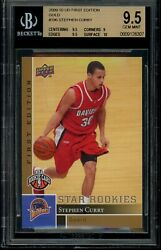 2009-10 Upper Deck First Edition Gold 196 Stephen Curry Rookie Card Bgs 9.5