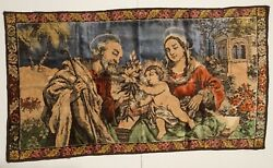 Mary and Joseph Tapestry Made In Italy 37quot;x21quot; One Time Sale Ends 9 26 21