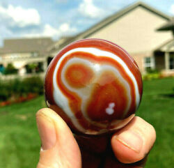 Red Agate Quartz Sphere -with Stand.