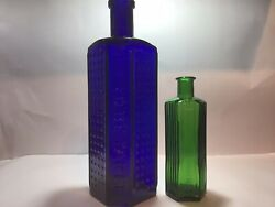 Giant 20oz Cobalt Blue Not To Be Taken Flat Back Lewis Towers Old Poison Bottle