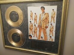 Elvis Presley 24kt Gold Plated Etched Records Last Final Release From Estate