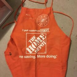 Rare S/m Size Home Depot Orange Employee Brand New Apron With Pockets 2021