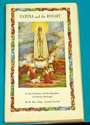 Vintage Fatima And The Rosary Booklet Joseph Cacella Full Color Cover