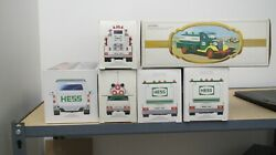 Hess Truck Lot 1995, 2 1998, 2000, 2004 And 1983 All New In Box