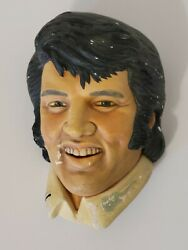 Elvis Presley Bossons Legend Products Made In England Chalkware Head 1979
