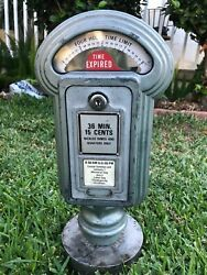 Vintage 4 Hours Limit  Duncan Parking Meter Metal - Working With Stand
