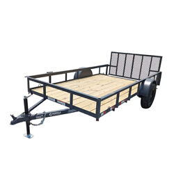 Utility Trailer 6.4and039x12and039 Reinforced Dovetail Gate Mower