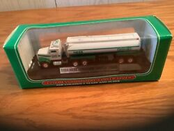 1998 Hess Miniature Tanker Truck W/ Detachable Display Stand 1st Collectible New