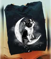 Boston Terrier Sit On The Moon Classic T Shirt