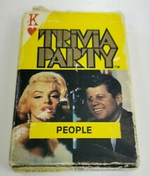 Trivia party cards Famous People Playing ARRCO TV Movies Politics