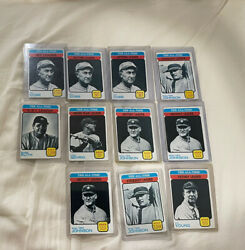 1973 Topps All Time Leaders Lot 11 Cards. Cy Young, Babe Ruth, Ty Cobb. Etc