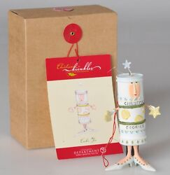 Dept 56 Patience Brewster Christmas Krinkles Cookie Tin Ornament w Box 56.37822