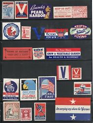 U.s. Ww Ii Propaganda Patriotic Home Front Poster Stamp Collection 1