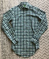 Sid Mashburn Gingham Plaid Button-front Slim Shirt Size S - Great Condition